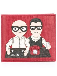 Dolce And Gabbana Designers Patch Wallet Red