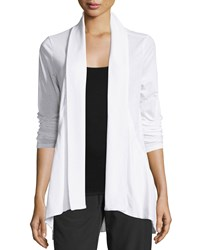 Marc New York Marc Ny Performance Slub Jersey Open Front Cardigan White