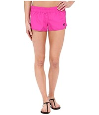 Hurley Supersuede Solid Beachrider Fire Pink Women's Swimwear