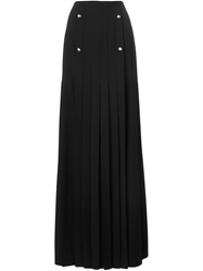 Versus Long Pleated Skirt Black