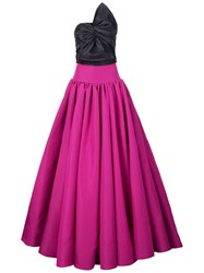 Christian Siriano Bow Detail Gown Pink And Purple