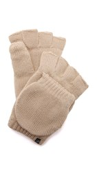 Plush Fleece Lined Texting Mittens Tan