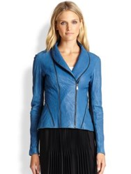 Elie Tahari Leather Yasmine Jacket Kismet
