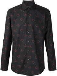 Marc Jacobs Flower Bouquet Print Shirt Blue