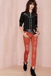 Nasty Gal Cut To The Chase Jeans