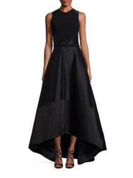Theia Hi Lo Racerback Ball Gown Black