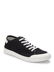 Rag And Bone Round Toe Lace Up Sneakers Black White
