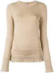Lanvin Ribbed Hem Jumper Nude Neutrals
