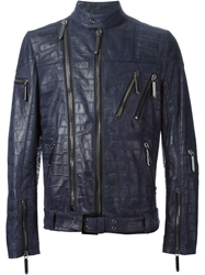 Philipp Plein 'Neon Sign' Jacket Blue