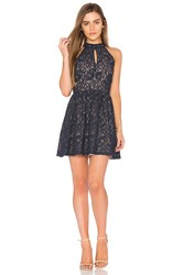 J.O.A. Sleeveless Fit And Flare Dress Navy