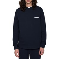 L'estrange Navy Diamond Cross Collar Sweatshirt Blue