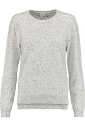 Iris And Ink Felicity Flecked Cashmere Crew Neck Sweater