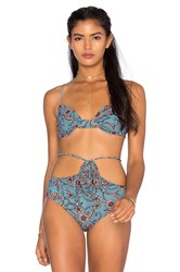 For Love And Lemons Belize Bikini Top Blue