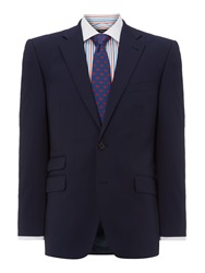 New And Lingwood Waver Stripe Twill Suit Jacket Ink