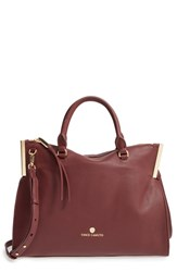 Vince Camuto Tina Leather Satchel Brown Gingerbread