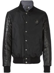 Philipp Plein Funnel Neck Bomber Jacket Black