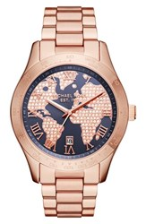 Michael Michael Kors Women's 'Layton' Pave Dial Bracelet Watch 44Mm