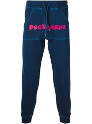 Dsquared2 Logo Track Trousers Blue