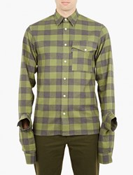 Gosha Rubchinskiy Green Oversized Plaid Shirt