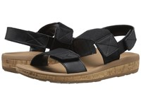 Rockport Weekend Casuals Keona 2 Band Gore Black Smooth Women's Sandals