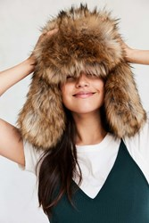 San Diego Hat Company Oversized Faux Fur Trapper Brown