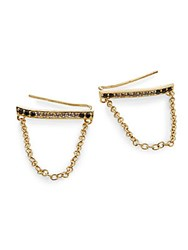 Elizabeth And James Ollie Black Spinel And White Topaz Paxton Drop Earrings Gold