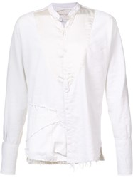 Greg Lauren Distressed Shirt White