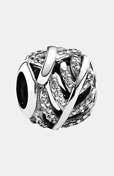 Pandora Design 'Light As A Feather' Charm Silver Clear