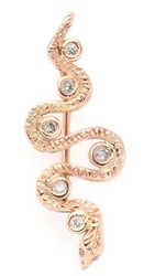 Jacquie Aiche Snake Ear Crawler Rose Gold Clear