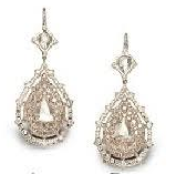 Nam Cho 18K Pink Gold Champagne Diamonds 3.5 Cts White Diamonds 2.3 Cts Rose Cut Pear Centers 4.7 Cts N N Silver