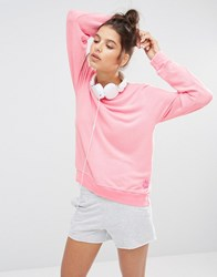 Wildfox Couture Wildfox Neon Pink Baggy Beach Jumper Neon Pink