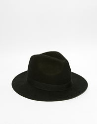 Asos Wide Brim Fedora Hat Black