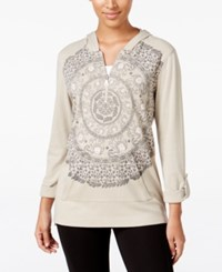 Styleandco. Style Co. Printed Zip Neck Hoodie Only At Macy's Pure Cashmere