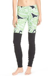 Alo Yoga Women's Alo 'Goddess' Ribbed Leggings Palm Springs Glowstick Black