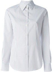 Alberto Biani Striped Shirt White