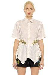 Clover Canyon Embellished Cotton Blend Poplin Shirt