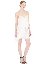 Francesco Scognamiglio Ruffled Sheer Silk Chiffon Mini Dress