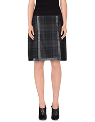 Ralph Lauren Black Label Knee Length Skirts Steel Grey
