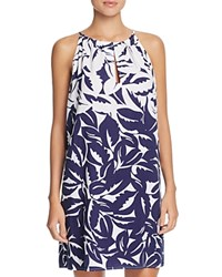 Tommy Bahama Graphic High Neck Dress Swim Cover Up Blue