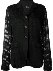 Lost And Found Check Jacquard Blazer Black