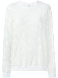 Kenzo Patchwork Organza Top Nude And Neutrals