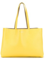 Orciani Classic Tote Bag Yellow And Orange