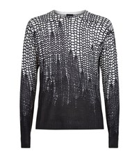 Just Cavalli Tonal Leopard Print Knit Male White