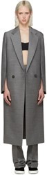 Calvin Klein Grey Tailored Coat