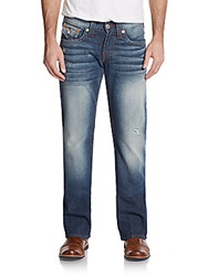 True Religion Button Flap Pocket Bootcut Jeans Blue
