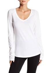 Z By Zella Lose Yourself Loose Long Sleeve Layer Tee White