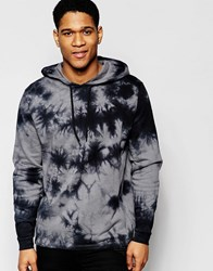 Asos Tie Dye Hoodie With Cuff Zips Gray