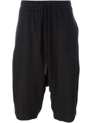 Lost And Found Ria Dunn Drawstring 'Over' Drop Crotch Shorts Black