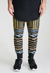 Forever 21 Mixed Chain Print Sweatpants