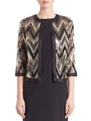 Harrison Morgan Sequined Open Front Jacket Multi